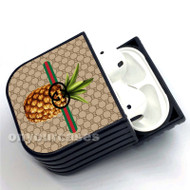 Pineapple Gucci Custom Air Pods Case Cover for Gen 1, Gen 2, Pro
