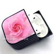 Pink Flowers Custom Air Pods Case Cover for Gen 1, Gen 2, Pro