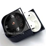 Porsche Boxster Steering Wheel Custom Air Pods Case Cover for Gen 1, Gen 2, Pro