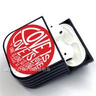 Red Love Custom Air Pods Case Cover for Gen 1, Gen 2, Pro