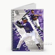 Nolan Arenado MLB Colorado Rockies Custom Personalized Spiral Notebook Cover
