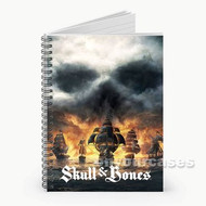Skull and Bones Custom Personalized Spiral Notebook Cover