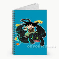 Goku Dragon Ball and Toothless Custom Personalized Spiral Notebook Cover