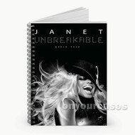 Janet Jackson Custom Personalized Spiral Notebook Cover