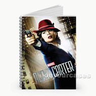 Agent Carter Custom Personalized Spiral Notebook Cover
