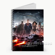 Batman vs Superman and Wonder Woman Custom Personalized Spiral Notebook Cover