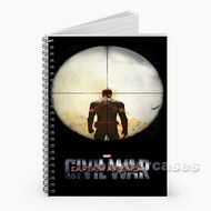 Captain America Civil War on Target Custom Personalized Spiral Notebook Cover