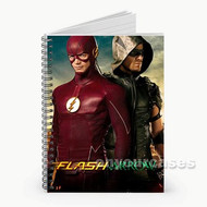 Green Arrow and The Flash Custom Personalized Spiral Notebook Cover