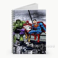 Hulk The Flash Superman Venom Breakfast Custom Personalized Spiral Notebook Cover