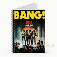 Kiss Bang Custom Personalized Spiral Notebook Cover