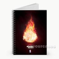 Miami Heat Fire NBA Custom Personalized Spiral Notebook Cover