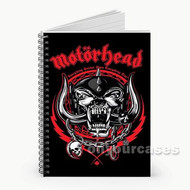 Motorhead Red Custom Personalized Spiral Notebook Cover