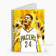 Paul George Indiana Pacers Yellow Custom Personalized Spiral Notebook Cover
