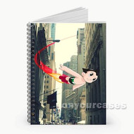 Flying Astroboy Custom Personalized Spiral Notebook Cover