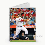 Mike Trout Los Angeles Angels Baseball Custom Personalized Spiral Notebook Cover