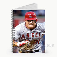 Mike Trout Los Angeles Angels Baseball Run Custom Personalized Spiral Notebook Cover