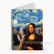 Mona Lisa Selfie Starry Night Custom Personalized Spiral Notebook Cover