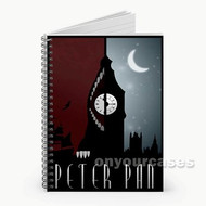 Peterpan Disney At Night Custom Personalized Spiral Notebook Cover