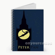 Peterpan Silhouette Custom Personalized Spiral Notebook Cover