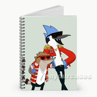 Regular Show Rigby and Mordecai Custom Personalized Spiral Notebook Cover