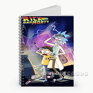 Rick and Morty Back To The Future Parody Custom Personalized Spiral Notebook Cover