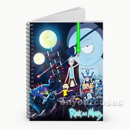 Rick and Morty Star Wars Custom Personalized Spiral Notebook Cover