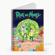 Rick and Morty Time Travel Custom Personalized Spiral Notebook Cover
