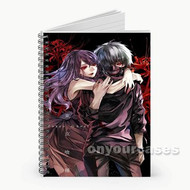 Rize and Kaneki Tokyo Ghoul Custom Personalized Spiral Notebook Cover