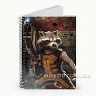 Rocket Racoon from Guardians of The Galaxy Custom Personalized Spiral Notebook Cover