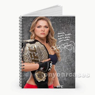 Ronda Rousey UFC Custom Personalized Spiral Notebook Cover