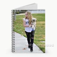 Sabrina Carpenter Walking Her Dog Custom Personalized Spiral Notebook Cover
