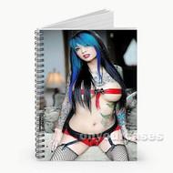 Scarlett Lash Custom Personalized Spiral Notebook Cover