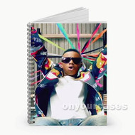 Silento Glassess Custom Personalized Spiral Notebook Cover