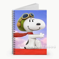 Snoopy The Peanuts Custom Personalized Spiral Notebook Cover
