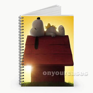 Snoopy The Peanuts Movie Custom Personalized Spiral Notebook Cover