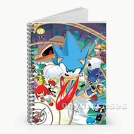 Sonic The Hedgehog All Characters Custom Personalized Spiral Notebook Cover