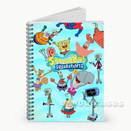 Spongebob Squarepants All Characters Custom Personalized Spiral Notebook Cover