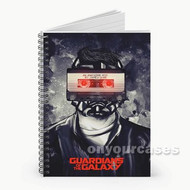 Star Lord Guardians of The Galaxy Cassette Custom Personalized Spiral Notebook Cover