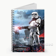 Star Wars Battlefront 2 Custom Personalized Spiral Notebook Cover