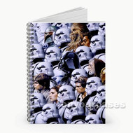 Star Wars Characters With Troopers Custom Personalized Spiral Notebook Cover