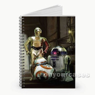 Star Wars Droids Custom Personalized Spiral Notebook Cover