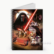 Star Wars The Force Awakens Characters Cover Custom Personalized Spiral Notebook Cover