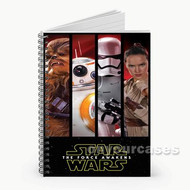 Star Wars The Force Awakens Custom Personalized Spiral Notebook Cover