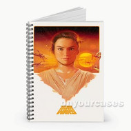 Star Wars The Force Awakens Rey Custom Personalized Spiral Notebook Cover