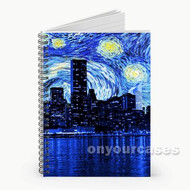 Starry Night New York City Custom Personalized Spiral Notebook Cover