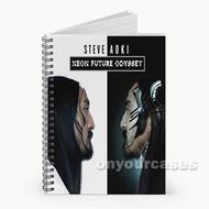 Steve Aoki Neon Future Odyssey Custom Personalized Spiral Notebook Cover