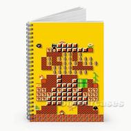 Super Mario Maker Body Art Custom Personalized Spiral Notebook Cover