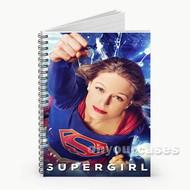 Supergirl Melissa Benoist Custom Personalized Spiral Notebook Cover