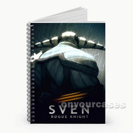 Sven Dota 2 Rogue Knight Custom Personalized Spiral Notebook Cover