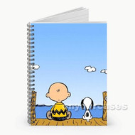 The Peanuts Snoopy and Charlie Brown Custom Personalized Spiral Notebook Cover